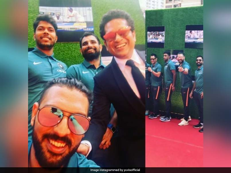 Team India Catch Sachin Movie Premiere Before The Big Show