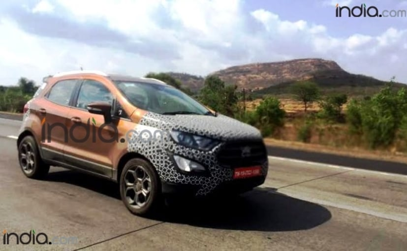 2017 ford ecosport facelift spotted in pune