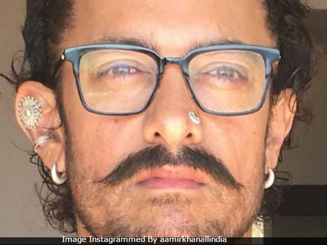 A Close-Up Of Aamir Khan's Pierced Look For Thugs Of Hindostan