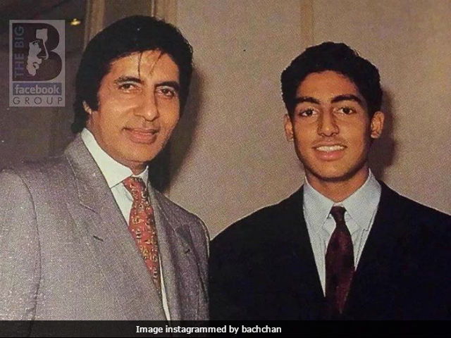 Amitabh Bachchan Gets A Hug From Son Abhishek In This Wonderful Old Pic