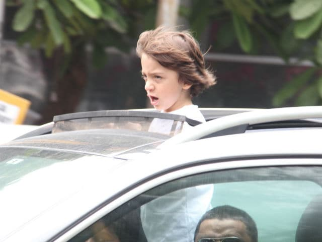 Shah Rukh Khan's Son AbRam Spotted On A Long Drive In Mumbai