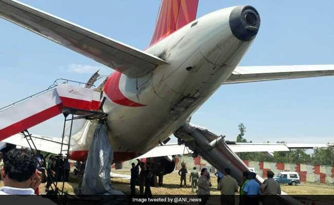 Air India Flight Suffers Tyre Burst While Landing In Jammu Today