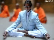 International Yoga Day: Amitabh Bachchan Suits Up For Sukhasana