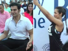 On International Yoga Day, Bend It Like Exes Malaika Arora And Arbaaz Khan