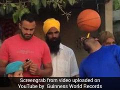 Punjab Man Sets World Record With Basketball Spinning Skills