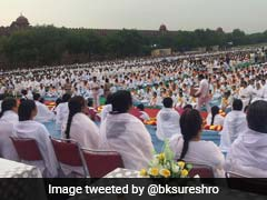 Brahma Kumaris Join Yoga Enthusiasts At Red Fort Lawns In Delhi
