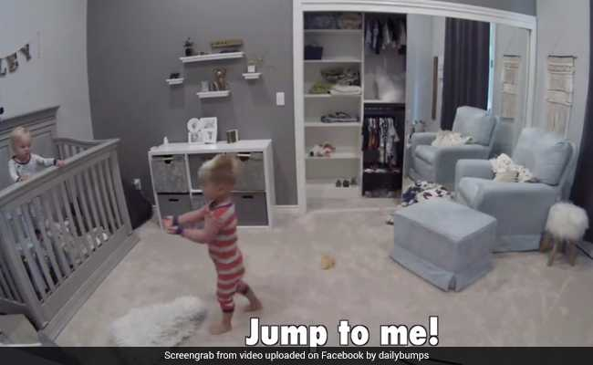 Toddler Teaches Baby Brother How To Escape Crib. 32 Million Views So Far