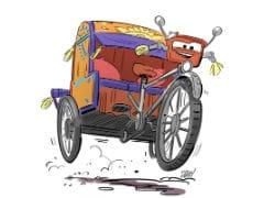A <i>Cars</i>-Style Makeover For The <i>Desi</i> Cycle Rickshaw