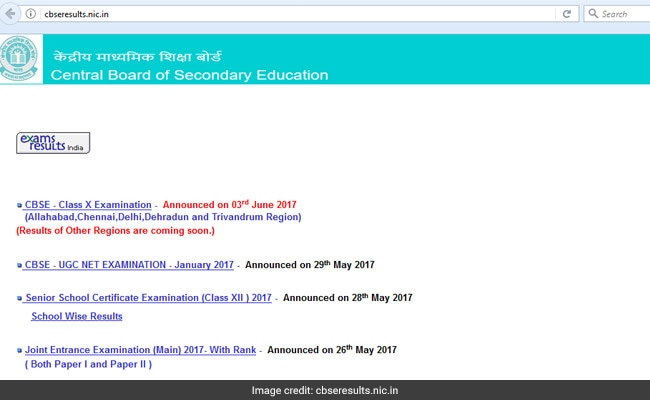 CBSE 10 Results 2017 declared @cbseresults.nic.in, @cbse.nic.in, Check your grades here