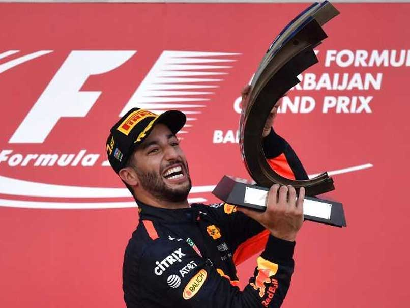 Azerbaijan GP Daniel Ricciardo Wins Title As Sebastian Vettel And Lewis Hamilton Clash