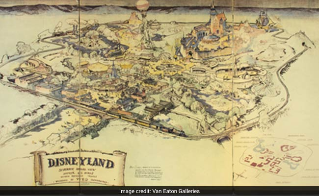 Disneyland map sketched by Walt Disney fetches over Dollars 700k