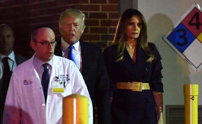 Donald Trump, Melania Trump Visit Republican Hurt In Baseball Shooting, In Hospital