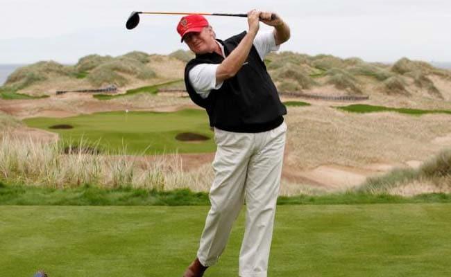Donald Trump Retweets Mock 'Golf Ball Attack' On Hillary Clinton
