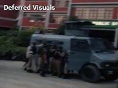Gunbattle between security forces and terrorists holed up inside a school in Srinagar