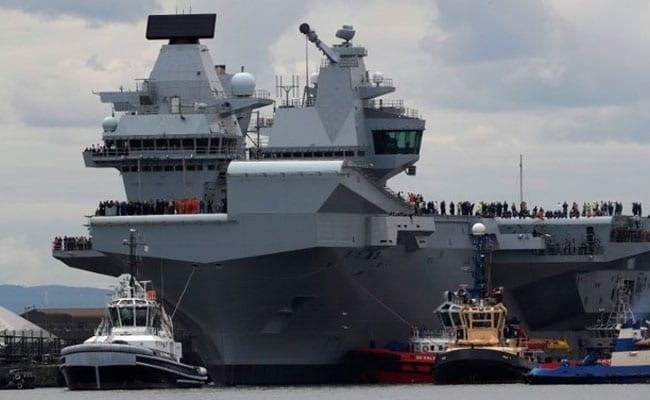 UK's Biggest Warship HMS Queen Elizabeth Sets Sail On Maiden Voyage
