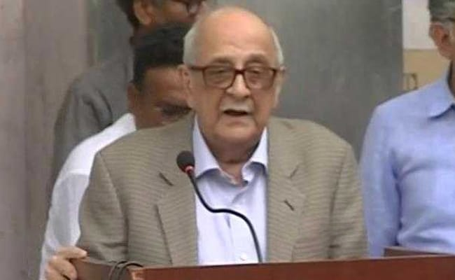 Jurist Fali Nariman Slams CBI For NDTV Raids