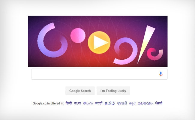 Google Doodle lets you create visual music