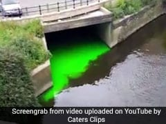 Man Films River Glowing Bright Green, Says Scene 'Out Of A Comic Book'