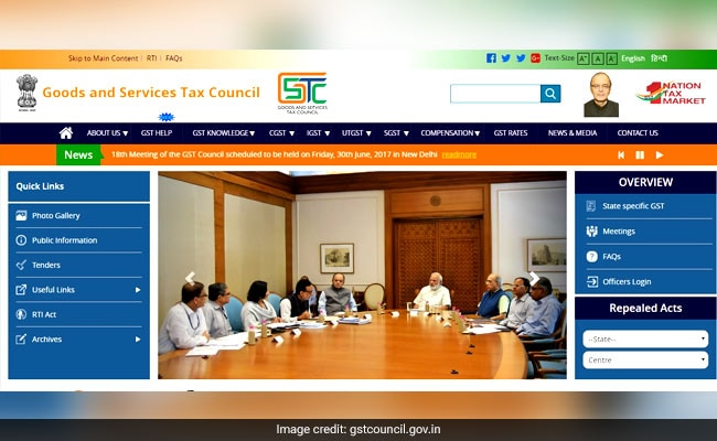 GST Council's Official Website Launched, Check Details Here