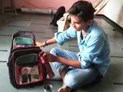 Akhilesh Yadav's 'Hidden Face' On School Bags In Gujarat Baffles Many