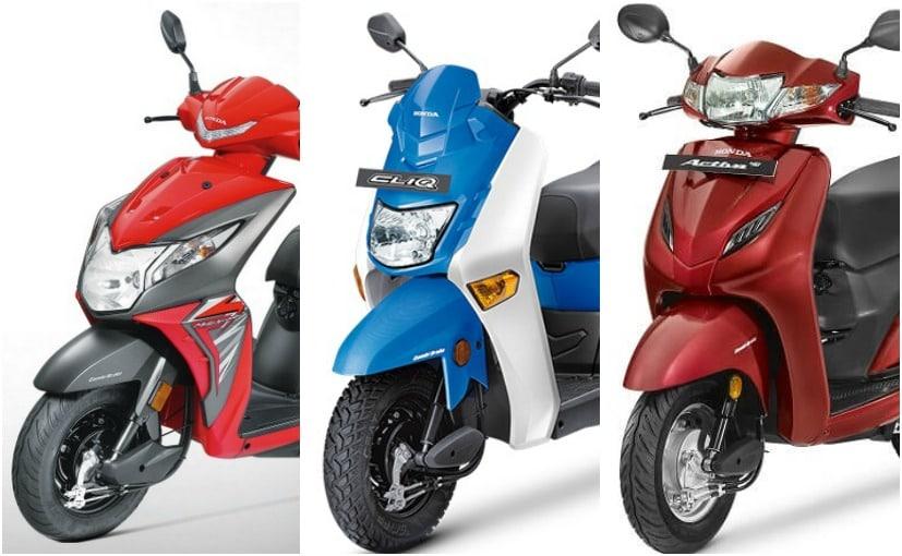 Honda Cliq Vs Honda Activa 4g Vs Honda Dio Spec Comparison Ndtv