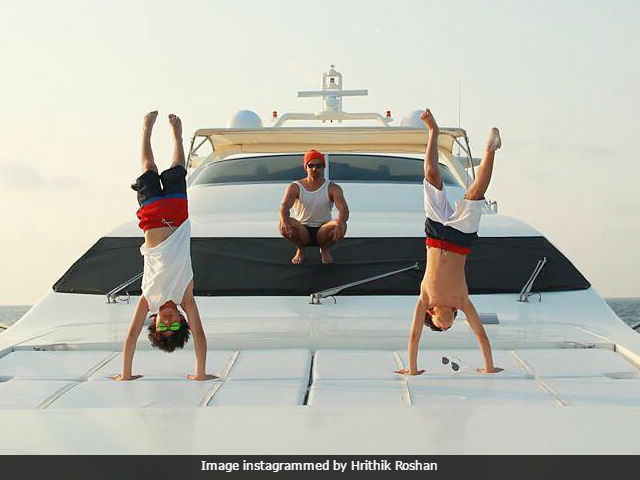 Hrithik Roshan's Sons Can Do A Perfect Handstand. See Pic