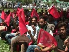 Hundreds Wave Flags In Srinagar To Mark Jammu And Kashmir State Flag Day