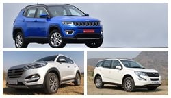 Jeep Compass vs Mahindra XUV500 vs Hyundai Tucson: Spec Comparison
