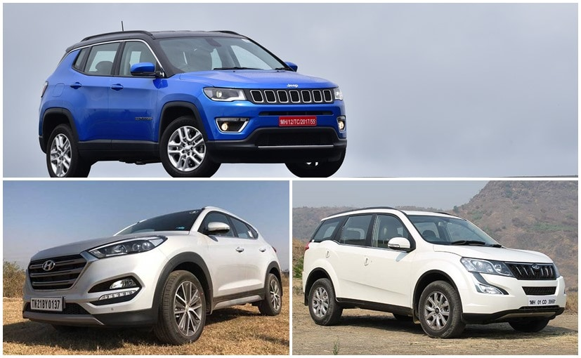 Jeep Compass Vs Hyundai Tucson Vs Mahindra Specifications