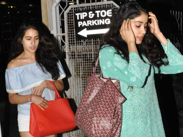 Pics From Sara Ali Khan And Jhanvi Kapoor Late Night Outing