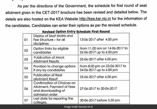 kea revised schedule
