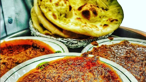 khamiri roti with mutton
