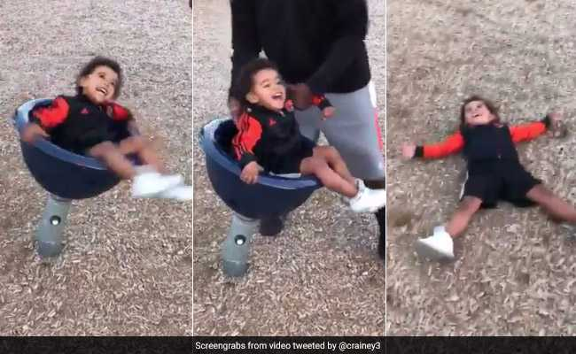 Internet Can't Stop Laughing At This Dad's Video Of His Son At Playground