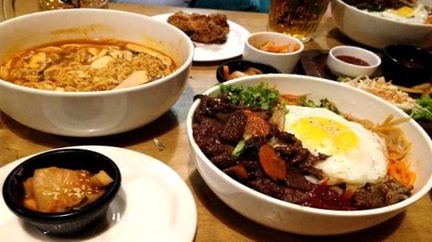 korean majnu ka tilla ramen bibimbap kimchi