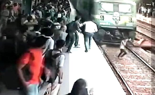 Miracle Caught On Camera, Girl Survives After Being Run Over By Train