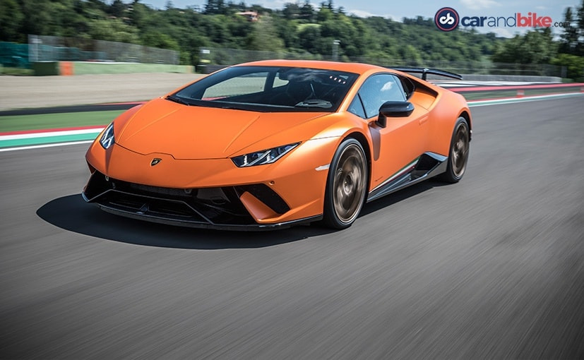 lamborghini huracan performante at imola track