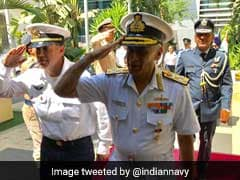 Navy Chief Sunil Lanba Pays Floral Tributes To Memorial Of Indian Soldiers In Israel