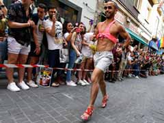 Men Take On The Cobbles In Stilettos In Spain Gay Pride Race