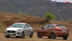 Comparison Review: Maruti Suzuki Dzire vs Tata Tigor