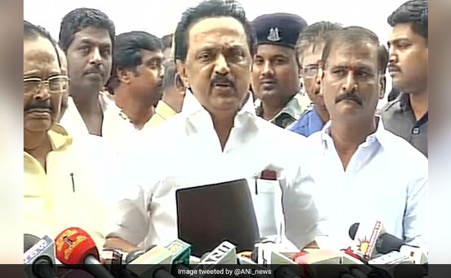 High Court Allows MK Stalin To Visit Water Body In Chief Minister Palaniswami's Constituency