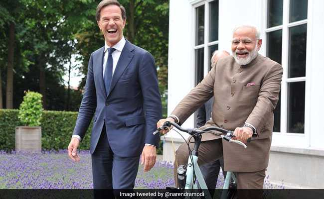 modi mark rutte cycle