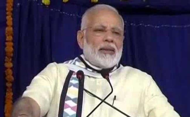 राजकोट में बोले प्रधानमंत्री नरेंद्र मोदी - दिल्ली की सरकार गरीबों को समर्पित सरकार है