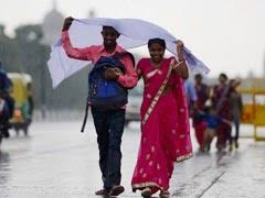 Rains In Delhi Bring Down Temperature, More Showers Expected