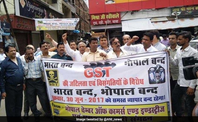 Madhya Pradesh Traders On Strike Ahead Of GST Rollout