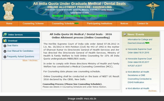 neet all india quota online counselling