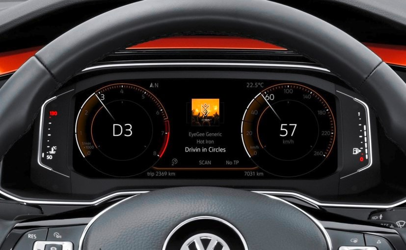 new volkswagen polo digital instrument console