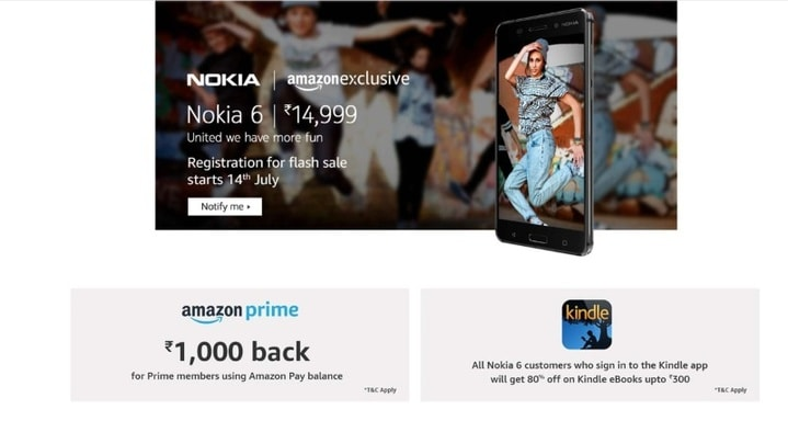 nokia 6 amazon price