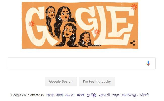 Doodle के जरिए अभिनेत्री नूतन  के जन्मदिन को Google ने बनाया यादगार