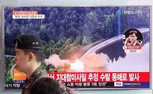 North Korea Fires Another Salvo Of Missiles, Defying International Condemnation