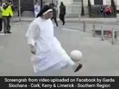 Nun Shows Off Football Skills In Viral Video, The Internet Is Impressed